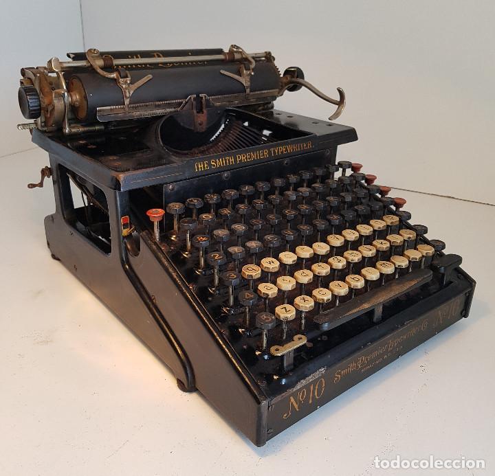 MAQUINA DE ESCRIBIR SMITH PREMIER, USA, MODELO 10A, AÑO 1.909, FUNCIONANDO ! (Antigüedades - Técnicas - Máquinas de Escribir Antiguas - Otras)