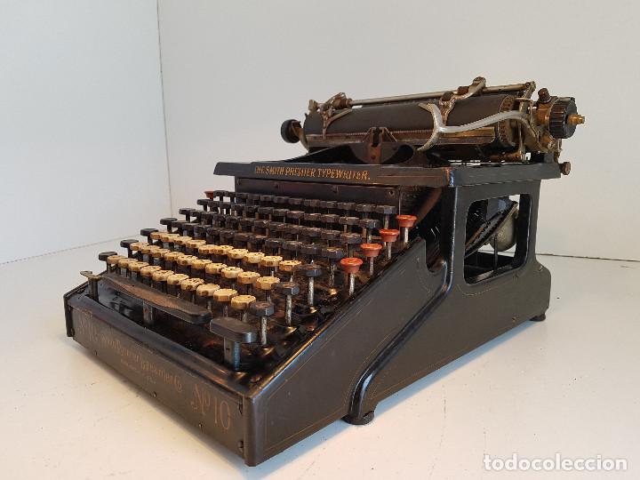 Antigüedades: Maquina de escribir Smith Premier, USA, modelo 10A, año 1.909, funcionando ! - Foto 3 - 138754582