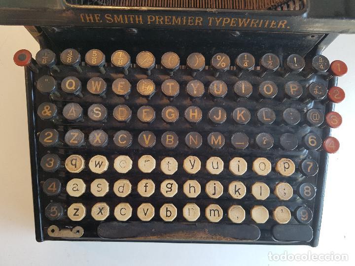 Antigüedades: Maquina de escribir Smith Premier, USA, modelo 10A, año 1.909, funcionando ! - Foto 13 - 138754582