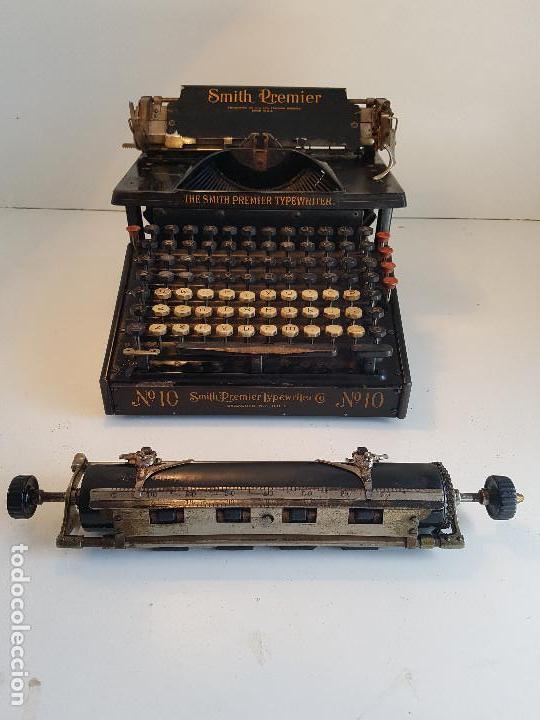 Antigüedades: Maquina de escribir Smith Premier, USA, modelo 10A, año 1.909, funcionando ! - Foto 14 - 138754582