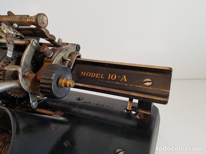 Antigüedades: Maquina de escribir Smith Premier, USA, modelo 10A, año 1.909, funcionando ! - Foto 23 - 138754582