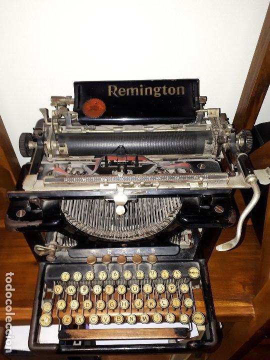 ANTIGUA MÁQUINA DE ESCRIBIR REMINGTON. (Antigüedades - Técnicas - Máquinas de Escribir Antiguas - Remington)