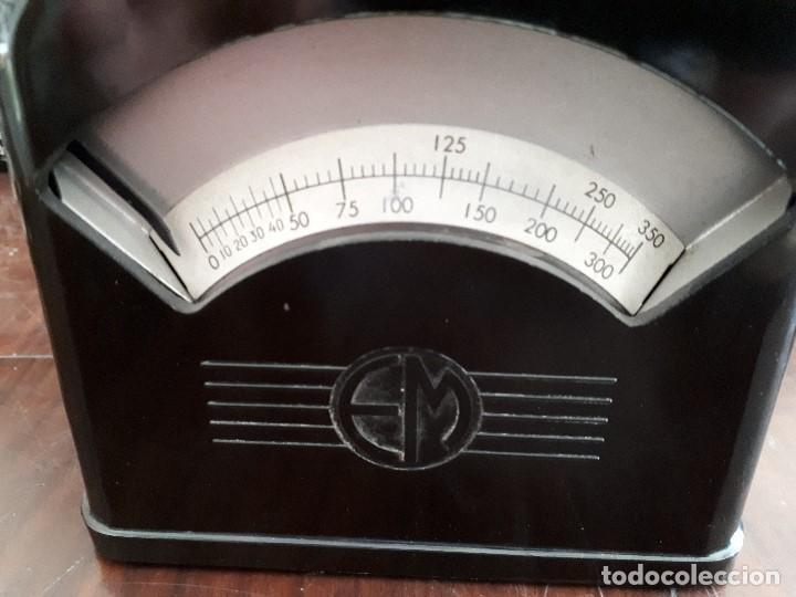Antigüedades: Báscula Pesa Cartas EM. Baquelita y metal. 350 gramos. Oficina. - Foto 3 - 138830606