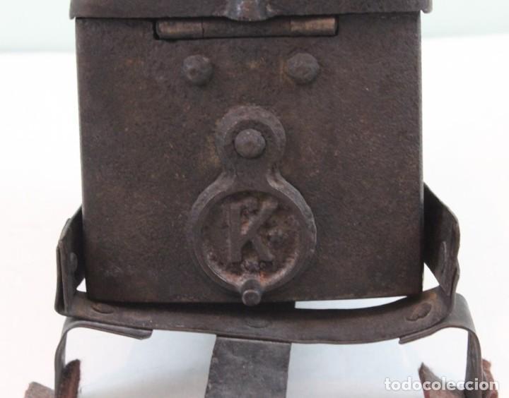 Antigüedades: Plancha,mediados siglo XIX,fundición,Archibald Kenrick & Sons,West Bromwich,utilizable - Foto 3 - 139035534