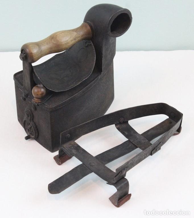 Antigüedades: Plancha,mediados siglo XIX,fundición,Archibald Kenrick & Sons,West Bromwich,utilizable - Foto 4 - 139035534