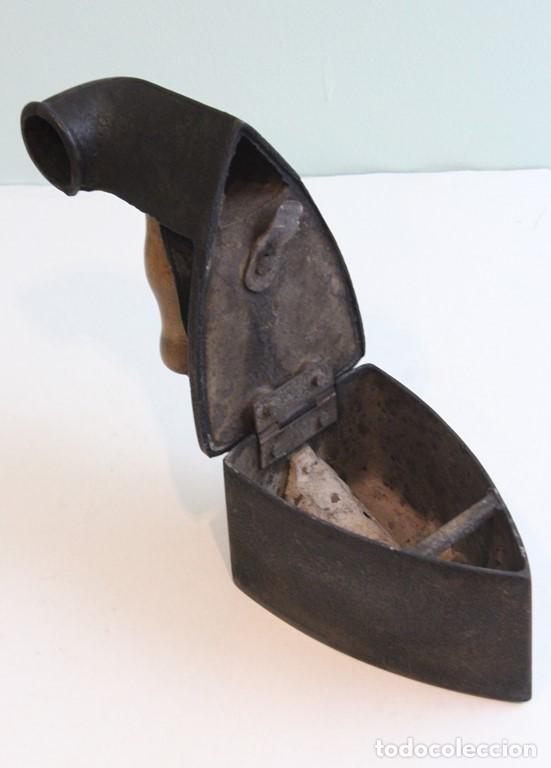 Antigüedades: Plancha,mediados siglo XIX,fundición,Archibald Kenrick & Sons,West Bromwich,utilizable - Foto 5 - 139035534