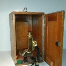 Antigüedades - Microscopio muy antiguo, con caja, BAUSCH, Alemania - 139096758