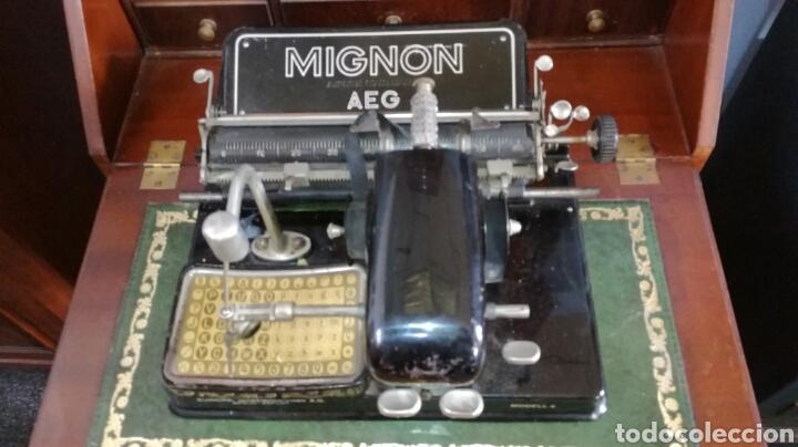 MAQUINA DE ESCRIBIR MIGNON MODELO 4 (Antigüedades - Técnicas - Máquinas de Escribir Antiguas - Mignon)