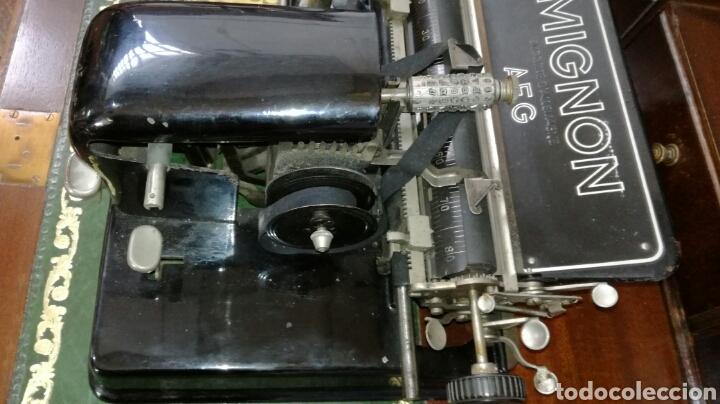 Antigüedades: Maquina de escribir MIGNON modelo 4 - Foto 3 - 185684842