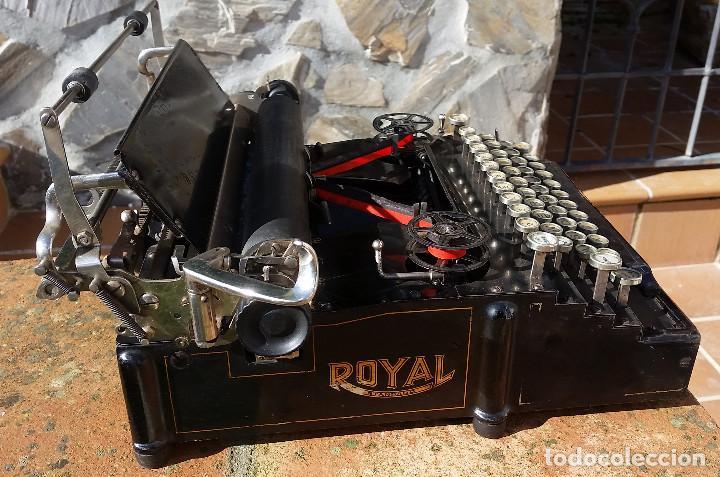 Antigüedades: Royal No. 5 , maquina de escribir tipo flatbed, USA, muy antigua, funcionando - ver video - Foto 3 - 139174842