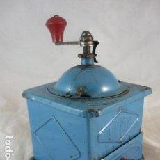 Antigüedades: MOLINILLO CAFE ELMA - METAL AZUL. Lote 139178062