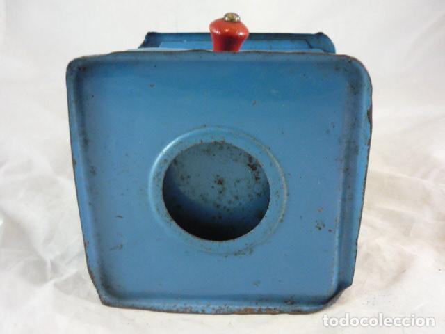Antigüedades: Molinillo Cafe Elma - Metal Azul - Foto 7 - 139178062