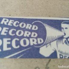 Antigüedades: ANTIGUA FUNDA DE HOJA DE AFEITAR CON HOJA RECORD. Lote 139181498