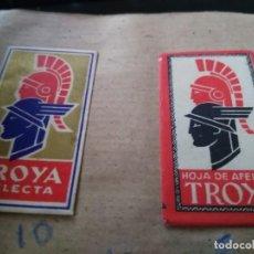 Antiguidades: ANTIGUA FUNDA DE HOJA DE AFEITAR TROYA 2 UNDS. Lote 139186474