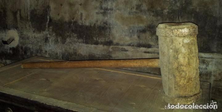 MAZO, MAZA GRANDE (Antigüedades - Técnicas - Herramientas Antiguas - Otras profesiones)