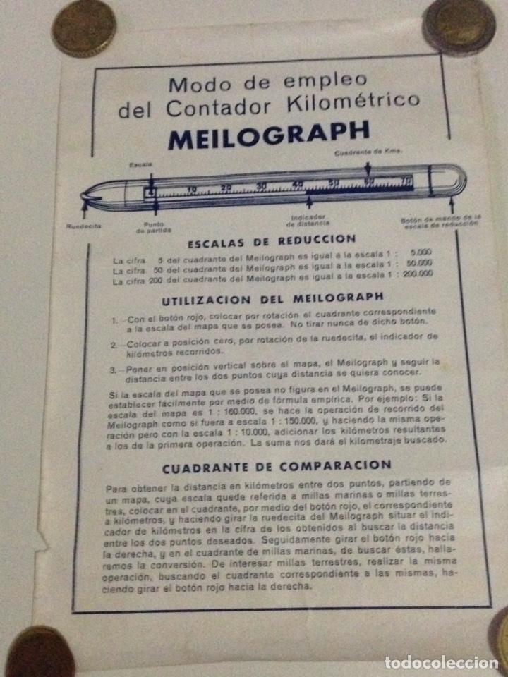 Antigüedades: Contador kilometrico Meilograph,con instrucciones de uso. - Foto 8 - 139192262