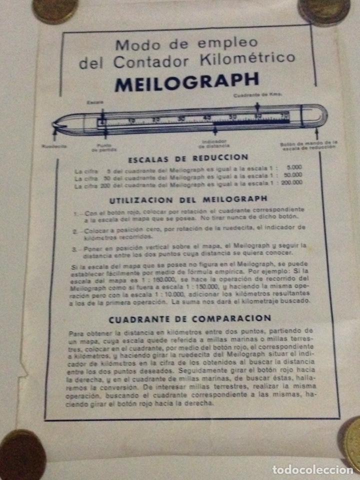 Antigüedades: Contador kilometrico Meilograph,con instrucciones de uso. - Foto 9 - 139192262