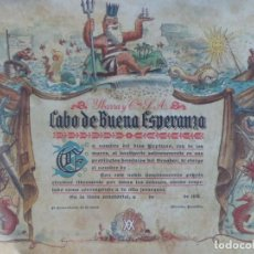 Antiguidades: NAVIERA YBARRA COMMEMORACION PASO CABO BUENA ESPERANZA 1.950. Lote 139231542