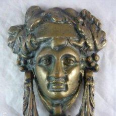 Antigüedades: ALDABA BRONCE AÑOS 20/30 - PICAPORTE - LLAMADOR MODERNISTA. Lote 139232602