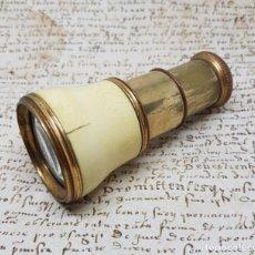 Antigüedades: BONITOS MONOCULOS,PRISMATICOS DE TEATRO EN MARFIL Y METAL DORADO,S. XIX. Lote 139234506