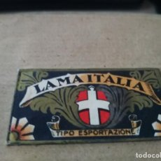 Antigüedades: ANTIGUA FUNDA DE HOJA DE AFEITAR CON HOJA ITALIA LAMA ITALIA 2UNDS. Lote 139265318