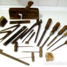 Antigüedades: LOTE HERRAMIENTAS DE CARPINTERO AÑOS 40-50. Lote 139285086