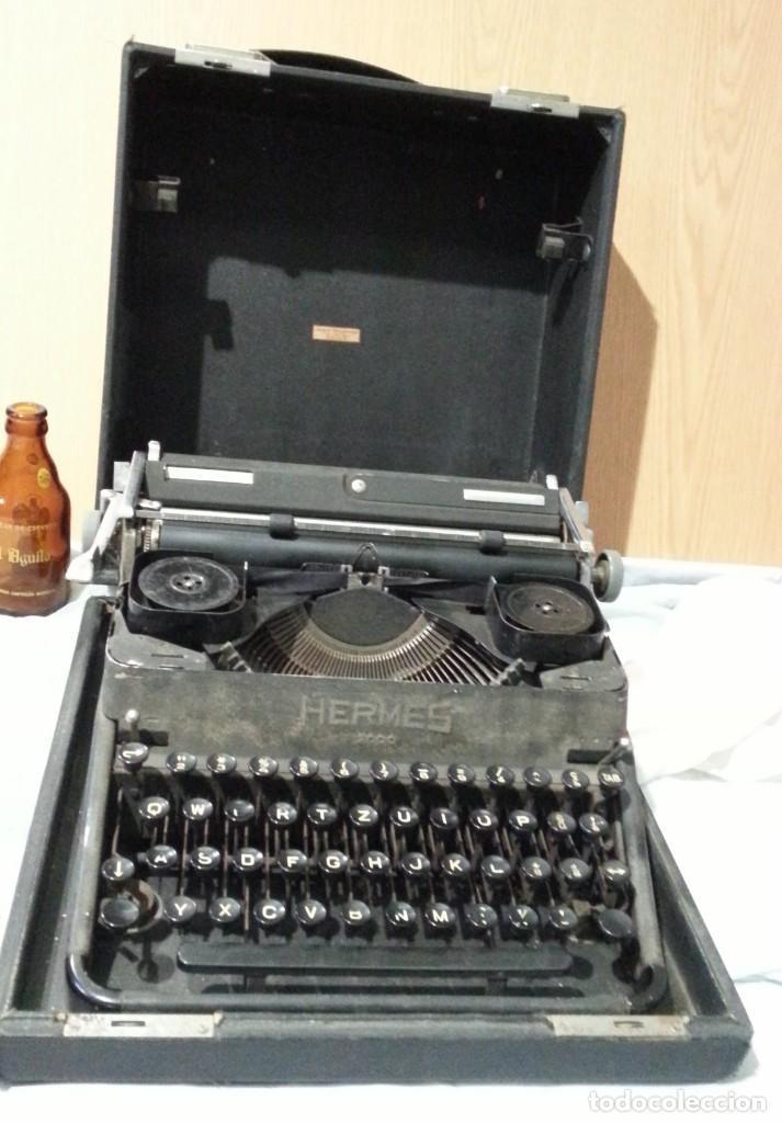 Antigüedades: Máquina escribir marca Underwood. Antigua y maravillosa. FUNCIONANDO. - Foto 2 - 139291038
