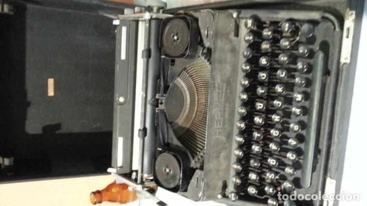Antigüedades: Máquina escribir marca Underwood. Antigua y maravillosa. FUNCIONANDO. - Foto 4 - 139291038