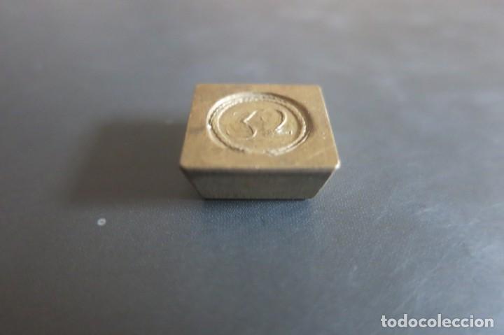 Antigüedades: pesa de 32 Quilates 1850 - Foto 3 - 139296714