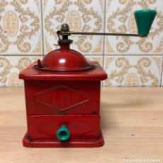Antigüedades: ANTIGÜO MOLINILLO DE CAFÉ EN LATÓN , MARCA ELMA . Lote 139322066