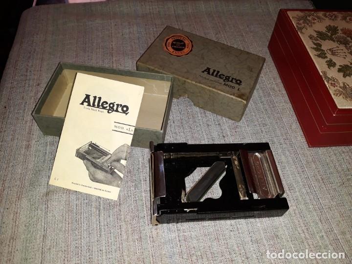 AFILADOR DE CUCHILLAS ALLEGRO. MODELO L.MADE IN SWISS, BUEN ESTADO (Antigüedades - Técnicas - Barbería - Varios Barbería Antiguas)