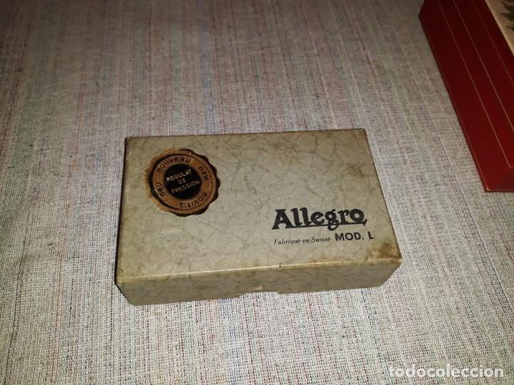 Antigüedades: AFILADOR DE CUCHILLAS ALLEGRO. MODELO L.made in swiss, buen estado - Foto 2 - 139333814