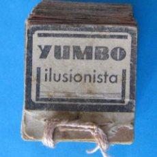 Antigüedades: YUMBO ILUSIONISTA. FILOSCOPIO O FLIP BOOK. SIN MÁS DATOS DEL EDITOR. AÑOS 20-30?. Lote 139395202