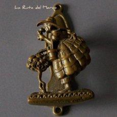Antigüedades: ANTIGUA ALDABA, LLAMADOR O PICADOR DE BRONCE. Lote 139439522