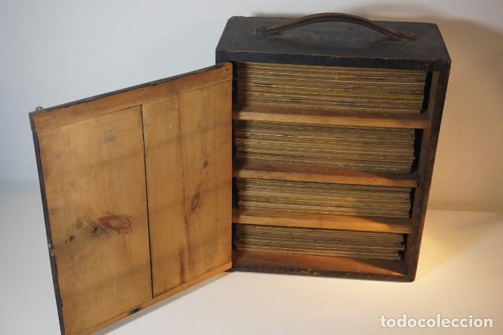 Antigüedades: VINTAGE CABINET para PREPARACIONES DE MICROSCOPIO c. 1920 - Foto 3 - 142063104