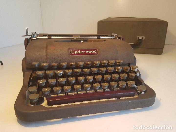 UNDERWOOD FINGER FLITE, AÑOS 50, USA, FUNCIONANDO ! (Antigüedades - Técnicas - Máquinas de Escribir Antiguas - Underwood)