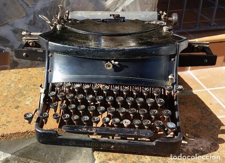 Antigüedades: Adler No.19 - - teclado cientifico, carro ancho, Raro ! - - rare scientific keyboard/wide carriage - Foto 2 - 139526814