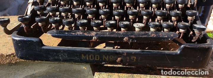 Antigüedades: Adler No.19 - - teclado cientifico, carro ancho, Raro ! - - rare scientific keyboard/wide carriage - Foto 3 - 139526814