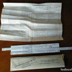 Antigüedades: AWF SR 701 M REGLA DE CALCULO PARA CALCULOS DE MECANIZADO EN MAQUINAS HERRAMIENTAS - AÑOS 50. Lote 139530186
