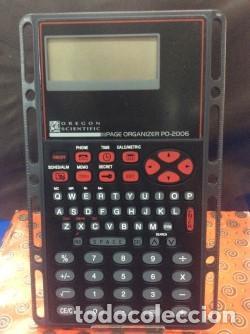 CALCULADORA - AGENDA ¡ 0REGON SCIENTIFIC ! VINTAGE (VER FOTOS) (Antigüedades - Técnicas - Aparatos de Cálculo - Calculadoras Antiguas)
