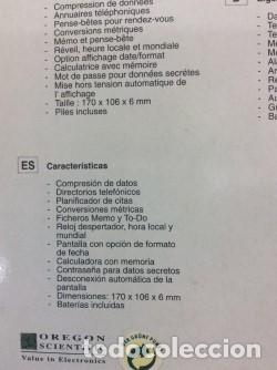 Antigüedades: CALCULADORA - AGENDA ¡ 0REGON SCIENTIFIC ! VINTAGE (VER FOTOS) - Foto 4 - 139576294