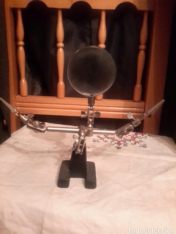 LUPA DE BANCO PARA HOBYSTAS (Antigüedades - Técnicas - Instrumentos Ópticos - Lupas Antiguas)