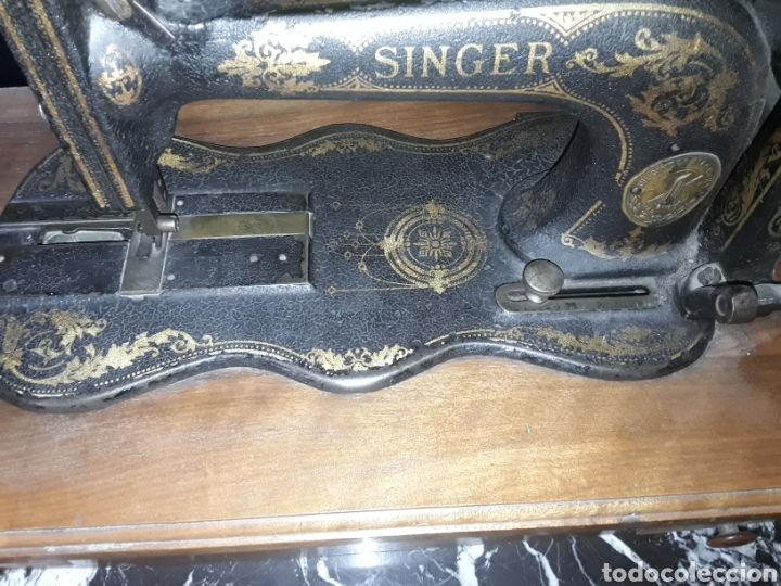 Antigüedades: Antigua maquina de coser Singer - Foto 2 - 139636209
