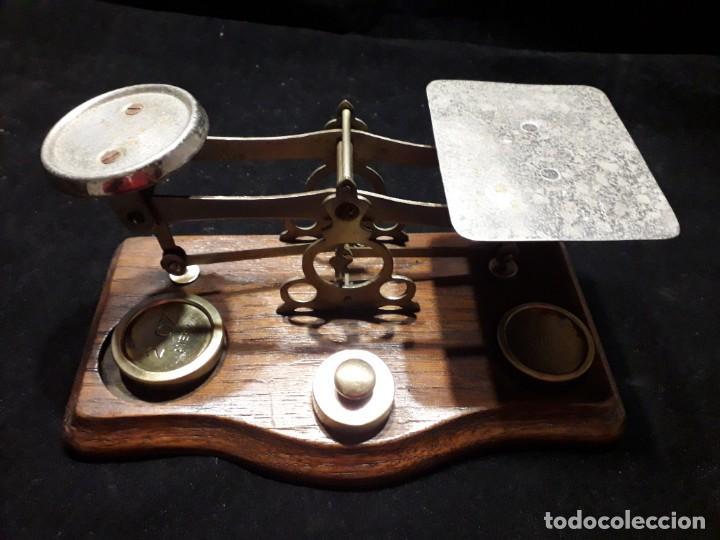ANTIGUA BALANZA CON PESAS (Antigüedades - Técnicas - Medidas de Peso - Balanzas Antiguas)