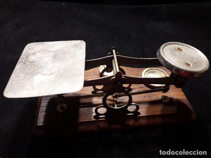 Antigüedades: Antigua balanza con pesas - Foto 5 - 139927402