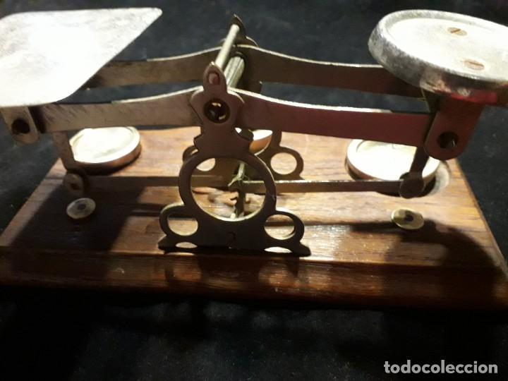 Antigüedades: Antigua balanza con pesas - Foto 6 - 139927402