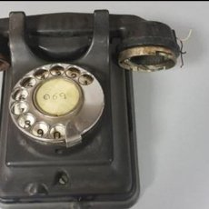 Teléfonos: TELEFONO MUY ANTIGUO DE BAQUELITA NEGRA.. Lote 139965470