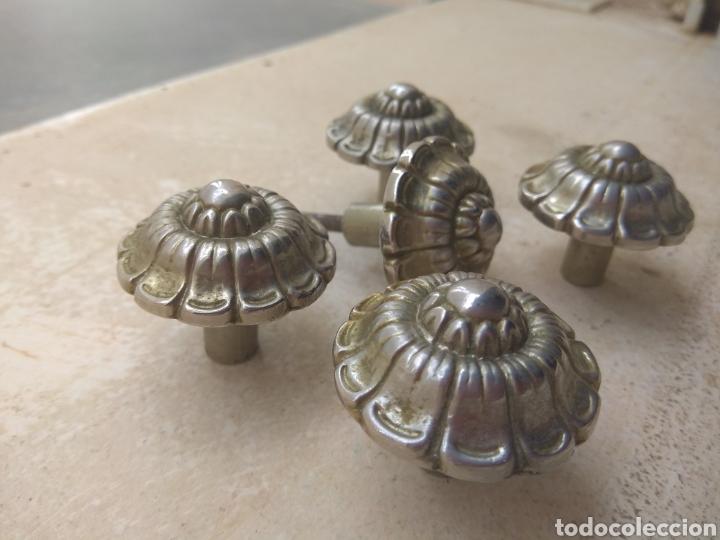 Antigüedades: Lote de 5 Tiradores Antiguos Puerta - Armario - Foto 3 - 139972001