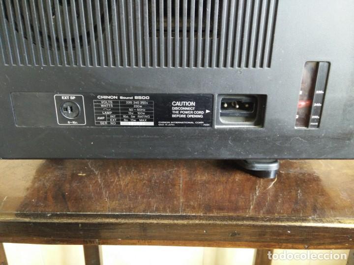 Antigüedades: Antiguo proyector super 8 CHINON SOUND 8500 Decoracion retro vintage - Foto 7 - 139974126