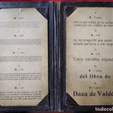 Antigüedades: TABLA OPTOMÉTRICA.ULLOA-ÓPTICO. MADRID. Lote 139993426